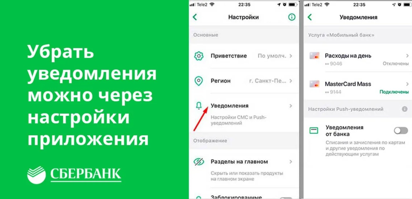 Как в Сбербанке отключить мобильный банк через «Сбербанк онлайн»